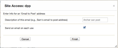 Add email dialog