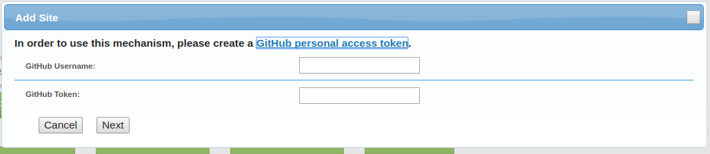 add with github access token